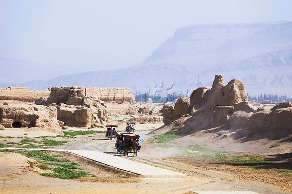 Gaochang ruins, Turpan, Xinjiang, China, Asia