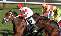 Kindergarden Kid and Julien Leparoux win the 18th running of The Sycamore stakes, Grade 3 $100,000 for owner Kenneth and Sarah Ramsey and trainer Michael Maker.  October 18, 2012.