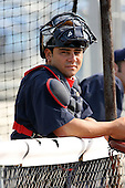 July 11th 2008:  Catcher Cesar Cordido (23) of the Brooklyn Cyclones, Class-A affiliate of the NY Mets, during a game at Russell Diethrick Park in Jamestown, NY.  Photo by:  Mike Janes/Four Seam Images