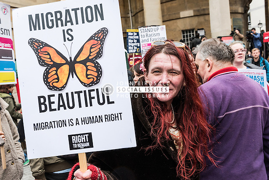 Stand Up to Racism demo, London March 2015 UK
