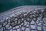 Dried mud patterns at Waimangu thermal area. Bay of Plenty New Zealand.