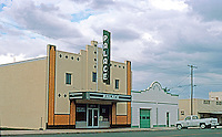 Marfa:  Palace Theater. Now a Craftsman's Workshop & Offices. Photo '96..