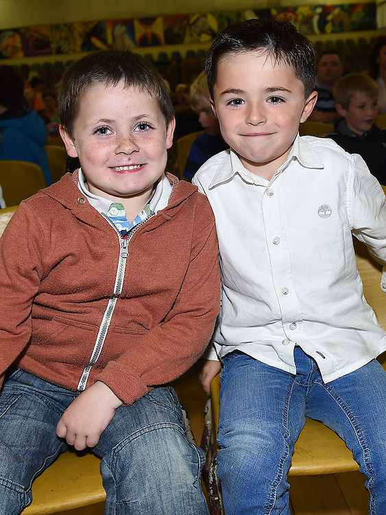 Nathan Callaghan and Cian Lynn pictured at Ardee Celtic underage awards night in Ardee Parish Centre. Photo:Colin Bell/pressphotos.ie