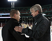 Ryan Soderquist (Bentley - Head Coach), Brian Riley (Army - Head Coach) - The Bentley University Falcons defeated the Army West Point Black Knights 3-1 (EN) on Thursday, January 5, 2017, at Fenway Park in Boston, Massachusetts.The Bentley University Falcons defeated the Army West Point Black Knights 3-1 (EN) on Thursday, January 5, 2017, at Fenway Park in Boston, Massachusetts.