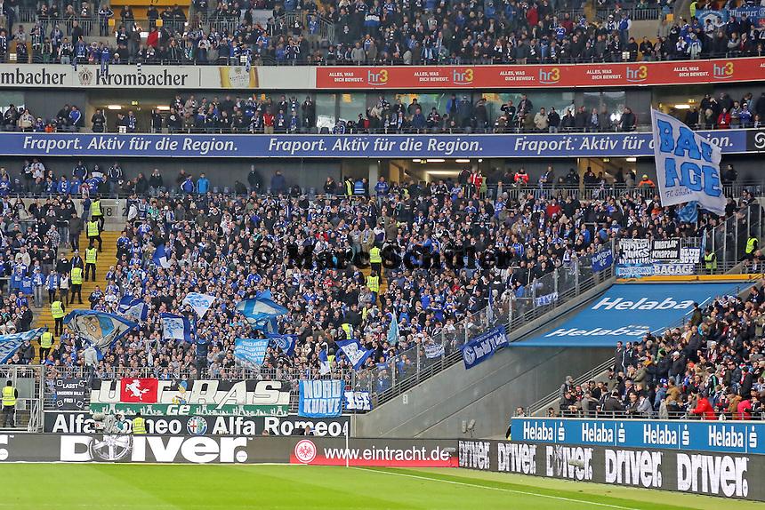 Fans aus Gelsenkirchen - Eintracht Frankfurt vs. FC Schalke 04, Commerzbank Arena