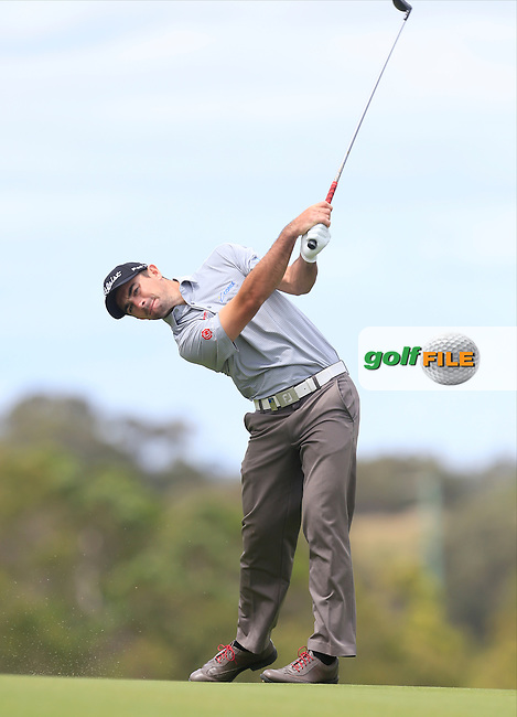 Gary Stal (FRA) on the 18th during Round 3 of the ISPS HANDA Perth International at the Lake Karrinyup Country Club on Saturday 25th October 2014.<br /> Picture:  Thos Caffrey / www.golffile.ie