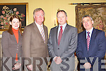 Mary Wixtead Enterprise Ireland, John O'Donoghue TD, Ray O'Connor IDA Ireland and Ogie Moran Shannon Development looking for solutions at the Kerry County Council recession discussion in the Randles Court Hotel, Killarney on Friday