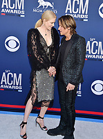LAS VEGAS, CA - APRIL 07: Nicole Kidman (L) and Keith Urban attend the 54th Academy Of Country Music Awards at MGM Grand Hotel &amp; Casino on April 07, 2019 in Las Vegas, Nevada.<br /> CAP/ROT/TM<br /> &copy;TM/ROT/Capital Pictures