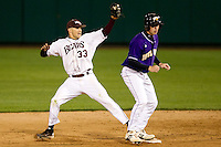 Spiker Helms (33) of the Missouri State Bears during a game vs. the Western Illinois Leathernecks at Hammons Field in Springfield, Missouri;  March 18, 2011.  Photo By David Welker/Four Seam Images