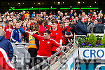 Caoilm Teahan Glenbeigh Glencar players celebrate their victory over Rock Saint Patricks in the Junior Football All Ireland Final in Croke Park on Sunday.