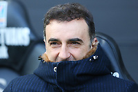 Swansea City manager Carlos Carvalhal prior to kick off of the Fly Emirates FA Cup Quarter Final match between Swansea City and Tottenham Hotspur at the Liberty Stadium, Swansea, Wales, UK. Saturday 17 March 2018
