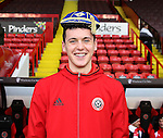 David Parkhouse with his U17 Irish football cap during the English League One match at Bramall Lane Stadium, Sheffield. Picture date: December 10th, 2016. Pic Simon Bellis/Sportimage