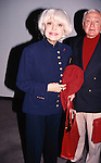 Carol Channing with husband attend the 'Picnic' Opening Night performance at the Roundabout Theatre Company on April 21, 1994 in New York City.