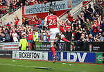 ROTHERHAM VS BRISTOL ROVERS<br /> New York Stadium, Saturday 21ST April 2018 <br /> <br /> Michael Smith Celebrates scoring Goal N1 for the Millers against Rovers.