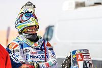 12th January 2020, Riyadh, Saudi Arabia;  Cerutti Jacopo (ita), Husqvarna, Solarys Racing, Bike, portrait during Stage 7 of the Dakar 2020 between Riyadh and Wadi Al-Dawasir, 741 km - SS 546 km, in Saudi Arabia - Editorial Use