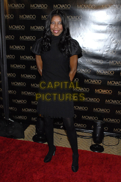 NATALIE COLE .Movado celebrates 60 years of Modern Design and the 2007 Future Legends Awards recipients at the Cooper-Hewitt National Design Museum, New York, New York, USA..October 24th, 2007.full length dress black tights shoes .CAP/ADM/BL.©Bill Lyons/AdMedia/Capital Pictures. *** Local Caption ***
