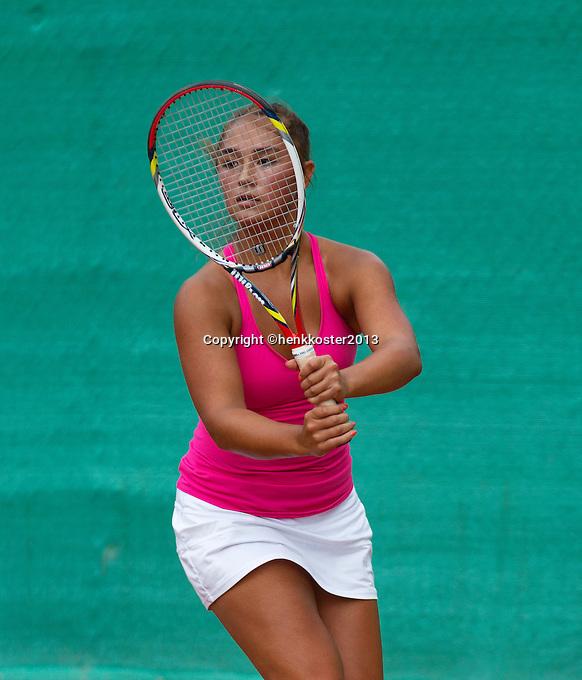 12-08-13, Netherlands, Raalte,  TV Ramele, Tennis, NRTK 2013, National RankingTennis Championships 2013,  Dayna Townsend<br /> <br /> Photo: Henk Koster