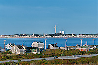 View of Provincetown from Truro, Cape Cod, MA, Massachusetts, USA