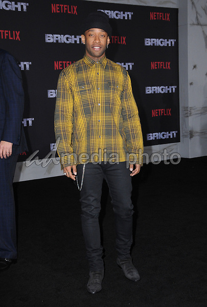 "13 December  2017 - Westwood, California - Ty Dolla Sign. Netflix's ""Bright"" Los Angeles Premiere held at Regency Village Theatre in Westwood. Photo Credit: Birdie Thompson/AdMedia"