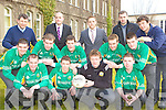 St Brendan's College team at their press day at the College on Thursday front row l-r: Bryan O'Shea, Damian O'Leary, Cillian Fitzgerald, Chris O'Leary, Dave Divane. Middle row: Colm Tobin, David O'Sullivan, Kieran O'Donoghue, Gavin O'Leary. Back row: Mike O'Leary, Justin Healy Ulster Bank, Darren O'Sullivan Ulster Bank, Kieran Herlihy and Padraig Lucey
