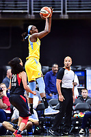 Washington, DC - June 15, 2018: Chicago Sky forward Cheyenne Parker (32) goes up for a jump shot during game between the Washington Mystics and Chicago Sky at the Capital One Arena in Washington, DC. (Photo by Phil Peters/Media Images International)