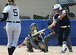 Western Nevada's Kelsie Callahan hits against the College of Southern Idaho at the Edmonds Sports Complex in Carson City, Nev., on Friday, April 8, 2016. <br />