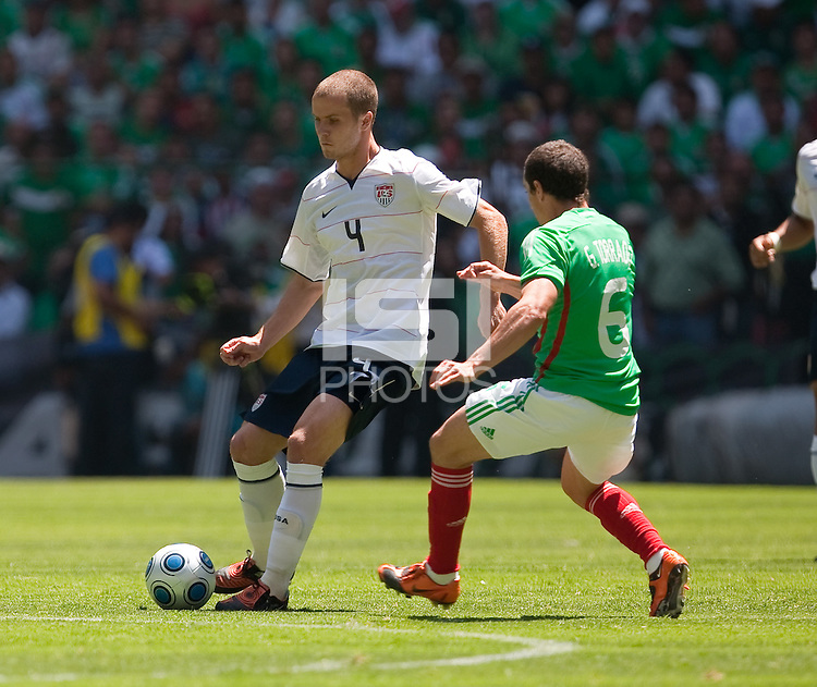 Michael Bradley. USA Men's National Team loses to Mexico 2-1, August 12, 2009 at Estadio Azteca, Mexico City, Mexico. .   .