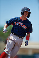 GCL Red Sox Daniel Bakst (48) running the bases during a Gulf Coast League game against the GCL Orioles on July 29, 2019 at Ed Smith Stadium in Sarasota, Florida.  GCL Red Sox defeated the GCL Pirates 9-1.  (Mike Janes/Four Seam Images)
