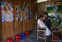 Barber shop at Phaungdawoo Village on Inle lake, Shan State, Myanmar/Burma