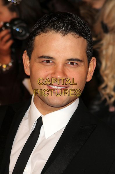 Ryan Thomas.arrivals at The National Television Awards, O2 Greenwich, London, England. 25th January 2012.NTA NTAS headshot portrait black white  tie.CAP/ROS.©Steve Ross/Capital Pictures.