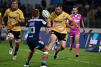 Dane Coles in action during the Super Rugby - Hurricanes v Blues at FMG Stadium, Palmerston North, New Zealand on Friday 13 March 2015. <br /> Photo by Masanori Udagawa. <br /> www.photowellington.photoshelter.com.