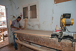 HURGHADA - EGYPT - 03 March 2015 -- Essam working in carpenter workshop. -- Photo: Kimmo HAGMAN / EUP-IMAGES