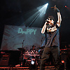 Dappy <br /> <br /> live in concert <br /> at Indigo 2, at the O2 Arena, Greenwich, London, Great Britain <br /> <br /> 19th December 2011 <br /> <br /> <br /> DAPPY <br /> <br /> <br /> Photograph by Elliott Franks<br /> <br /> <br /> Costadinos Contostavlos (born 11 June 1987) better known by his stage name Dappy, is a British singer-songwriter, rapper, actor of Greek descent. He is best known for being the lead singer of the Camden-based Grime/hip hop/R&amp;B trio N-Dubz, with his cousin Tulisa and their friend Fazer. He is known for his slightly unusual dress sense and his love for what he describes as &quot;eye-catching headwear&quot;. His trademark is wearing a selection of woolly chullos (sometimes referred to as &quot;Dappy hats&quot;), turning up one of or both the ear-flaps of the hat.