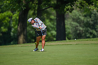 Christina Kim (USA) hits her approach shot on 12 during round 2 of the 2018 KPMG Women's PGA Championship, Kemper Lakes Golf Club, at Kildeer, Illinois, USA. 6/29/2018.<br /> Picture: Golffile | Ken Murray<br /> <br /> All photo usage must carry mandatory copyright credit (© Golffile | Ken Murray)