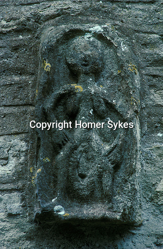Sheela-na-gig, All Saints Church, Oaksey, Gloucestershire England. Celtic Britain published by Orion