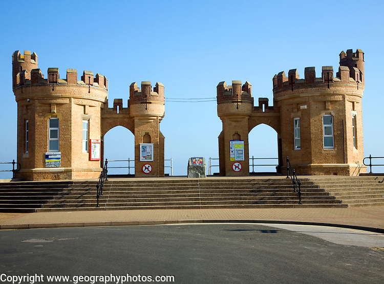 Pier Towers, Castle style building at Withernsea, Yorkshire, England