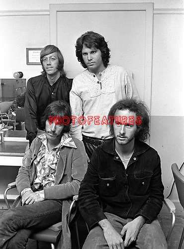The Doors 1968 Ray Manzarek, Jim Morrison, John Densmore, Robbie Krieger at Top Of The Pops..© Chris Walter..