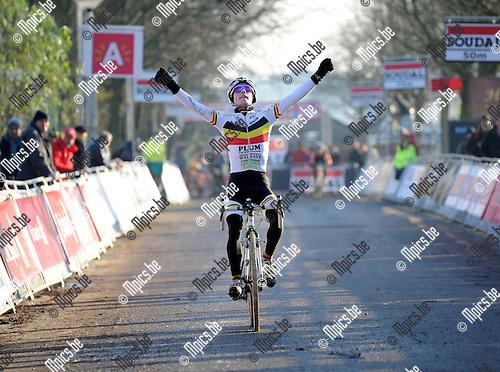 2012-12-08 / Veldrijden / seizoen 2012-2013 / Scheldecross nieuwelingen / Eli Iserbyt was de beste nieuweling..Foto: Mpics.be