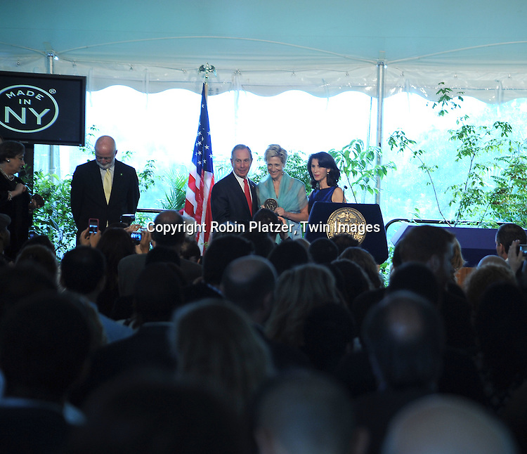 Mayor Bloomberg, Edie Falco and Katherine Oliver