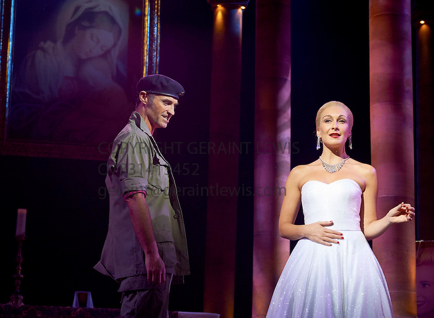 Evita . Music by Andrew Lloyd Webber, Lyrics by Tim Rice . With Madalena Alberto as Evita, Marti Pellow as Che. Opens at The Dominion Theatre on 22/9/14. CREDIT Geraint Lewis