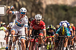 European Champion Alexander Kristoff (NOR) UAE Team Emirates wins Stage 6 of the 2018 Tour of Oman running 135.5km from Al Mouj Muscat to Matrah Cornich. 18th February 2018.<br /> Picture: ASO/Muscat Municipality/Kare Dehlie Thorstad | Cyclefile<br /> <br /> <br /> All photos usage must carry mandatory copyright credit (&copy; Cyclefile | ASO/Muscat Municipality/Kare Dehlie Thorstad)