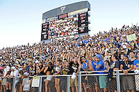 17 September 2011:  FIU fans cheer on their team as the FIU Golden Panthers defeated the University of Central Florida Golden Knights, 17-10, at FIU Stadium in Miami, Florida.