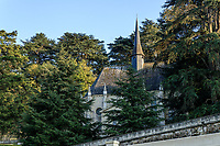 France, Indre-et-Loire (37), Rigny-Ussé, château et jardin d'Ussé en octobre, la chapelle