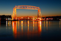 """Twilight Aerial Lift Bridge""<br />