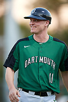 Dartmouth Big Green coach Jonathan Anderson (11) during a game against the Northeastern Huskies on March 3, 2018 at North Charlotte Regional Park in Port Charlotte, Florida.  Northeastern defeated Dartmouth 10-8.  (Mike Janes/Four Seam Images)
