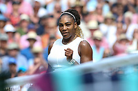 Serena Williams (USA) after winning her match against Barbora Strycova (CZE) in their Ladies' Singles Semi-Final match<br /> <br /> Photographer Rob Newell/CameraSport<br /> <br /> Wimbledon Lawn Tennis Championships - Day 10 - Thursday 11th July 2019 -  All England Lawn Tennis and Croquet Club - Wimbledon - London - England<br /> <br /> World Copyright © 2019 CameraSport. All rights reserved. 43 Linden Ave. Countesthorpe. Leicester. England. LE8 5PG - Tel: +44 (0) 116 277 4147 - admin@camerasport.com - www.camerasport.com