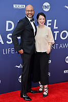 LOS ANGELES, USA. June 07, 2019: Keegan-Michael Key & Elisa Pugliese Key at the AFI Life Achievement Award Gala.<br /> Picture: Paul Smith/Featureflash