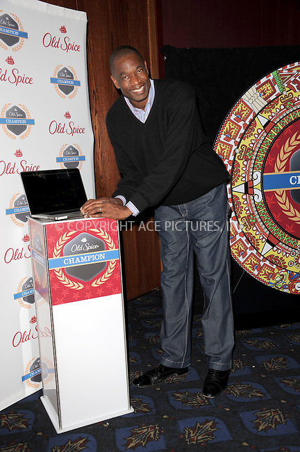 WWW.ACEPIXS.COM . . . . . .December 4, 2012...New York City....Old Spice has teamed up with NBA legend Dikembe Mutombo and Stacy Keibler to launch current internet sensation ?Dikembe Mutombo's 4.5 Weeks to Save the World? on December 4, 2012 in New York City ....Please byline: KRISTIN CALLAHAN - ACEPIXS.COM.. . . . . . ..Ace Pictures, Inc: ..tel: (212) 243 8787 or (646) 769 0430..e-mail: info@acepixs.com..web: http://www.acepixs.com .