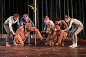 London, UK. 18.05.2016. Regent's Park Open Air Theatre presents RUNNING WILD, by Michael Morpurgo, in an adapttion by Samuel Adamson. the production is directed by Timothy Sheader and Dale Rooks, design is by Paul wills and lighting design by Paul Anderson. Picture shows: the Orangutans. Photograph © Jane Hobson.