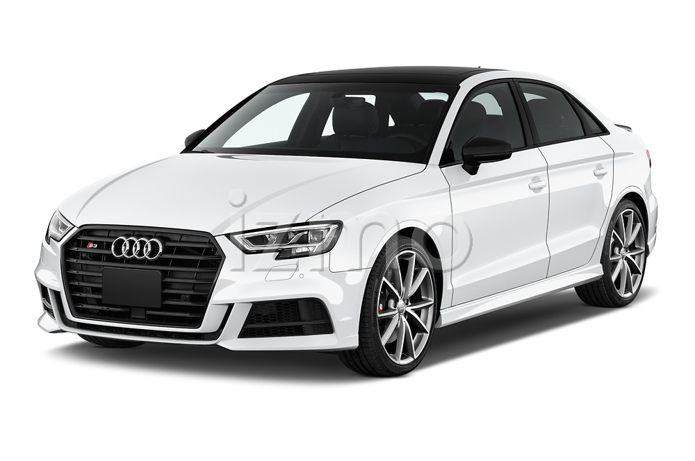 2017 Audi S3 Premium-Plus 4 Door Sedan Angular Front stock photos of front three quarter view